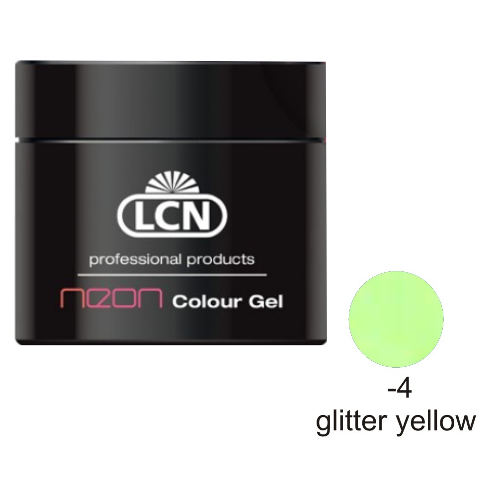 COLOUR GEL NEON 5ML GLITTER YELLOW GEL COLORAT GAL
